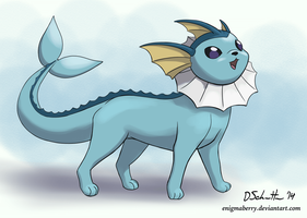 134 Vaporeon by EnigmaBerry