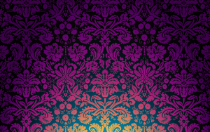 Floral Damask 2 omvendt by mia77