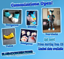 Fursuit Commissions Open! by LittleRock3DD