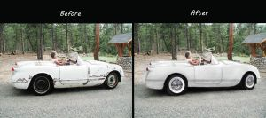 Before And After Corvette 1950s by Barrier75