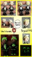 Kagamine twins clay charms by Beca1591