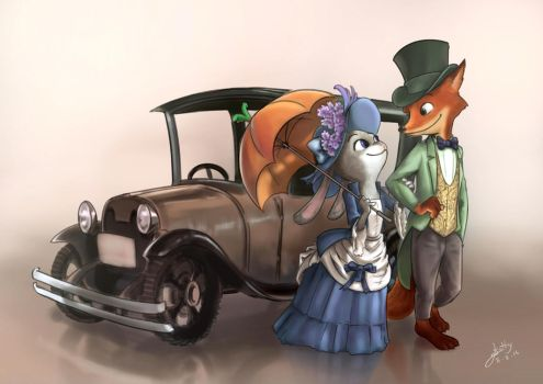 [Fan-art] Zootopia in vintage style by SlothyAmphawa