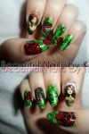Poison Ivy Nail Art 1 by shineegurl18