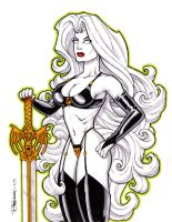 Lady Death Marker Sketch by BillMcKay