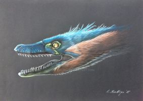 Velociraptor Mongoliensis by Polihierax