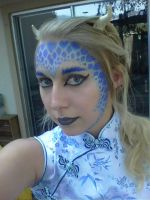 Blue Dragon Makeup by Willow-Chan