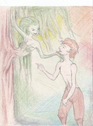 The satyr and the willow tree