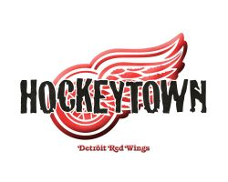 Red Wings Hockeytown logo by jimEYE