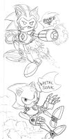Shard/ Metal Sonic Doodles 1 by WaniRamirez