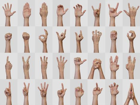 Hand Signs and Gestures by h3design