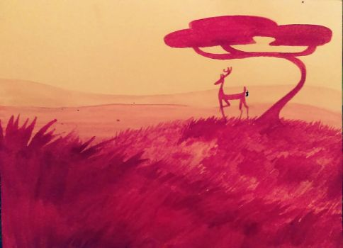 Pink Meadow 02 by WorldCanBeGood