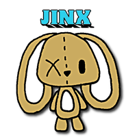 Jinx Bunny Plushie Drawing by kiddomerriweather