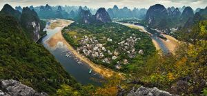 Li river Panorama 2 by doruoprisan