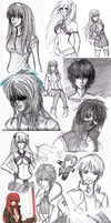 Sketch Dump 2009 by dysfunctionalartist