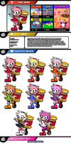 Newcomer Amy Rose by evilwaluigi
