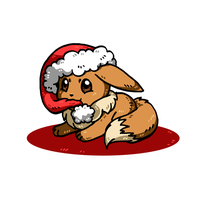 Christmas Eevee by nya-nannu