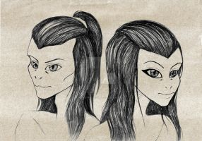 Yuan Ti twins sketch by ThestralWizard