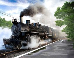 Steam Train by AliaChek