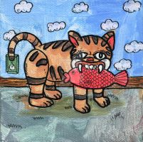 Cat and the Swedish Fish by MBLASTER