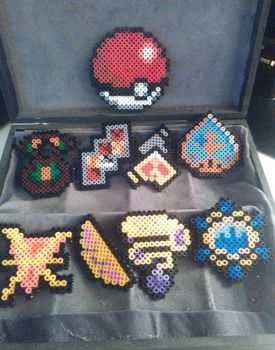 pokemon badges - Kalos 1 by bGilliand