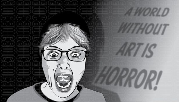 Self-Portrait - A World Without Art is Horror! by RetroYeti