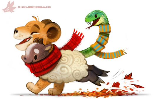 Daily Paint #1080. Chimera by Cryptid-Creations