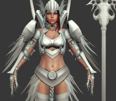2010 Comicon: Valkyrie WIP 32 by HazardousArts