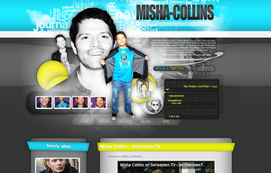 Misha Collins webdesign by blazule-graphics