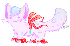 ribbon cat adoptable OPEN by iceiline