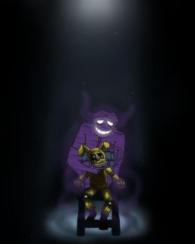 Purple Guy and Plushtrap-Always possessed... by BlaziePanda
