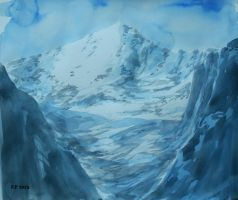 Mountain watercolor by Boias