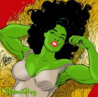 TOM  BURGOS'  HAY,SHE HULK by DeadDog2007