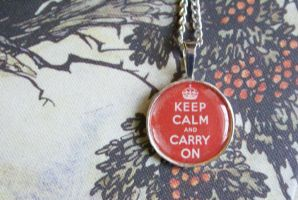 Keep Calm and Carry On Pendant 002 by MonsterBrandCrafts