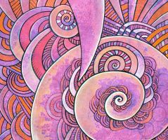 great purple spiral by santosam81