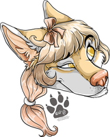 Skeptical Mimichi - headshot commission by nightspiritwing