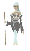 the skeleton lady by astrobro