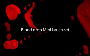 Blood drop mini brush set by BenevolentHellion