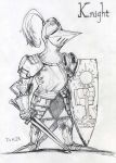 Knight doodle of the day by DKuang