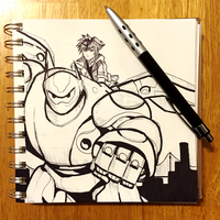 Kingdom Hearts 3 - Big Hero 6 Sketch by BethanyFrye