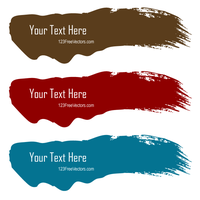 Color Brush Stroke Banners Illustrator by 123freevectors