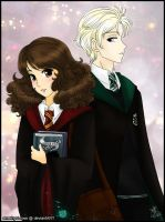 Dramione: Not-so-secret glances by amethyst-rose