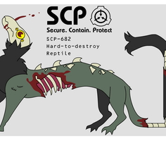 [SCP-682] Throw D-class at it until it stops by Robowoofer