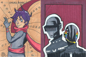 Sketch Cards 2 by MsMoores