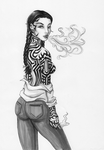 .:: Zoe - Smoked Out ::. by Mailboxed-Kitten