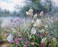 Landscape with butterflies by AwaaraC