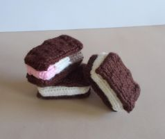 Knitted Ice Cream Sandwiches by DrFrankKnits