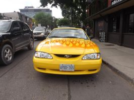 The Flaming Mustang In Kensington Market #3 by Neville6000