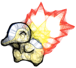 ScribbleToo Cyndaquil by volatile-serenity