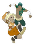 Zuba and Khari Color WIP by Grump-Support