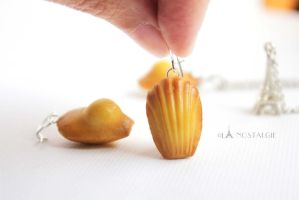French Madeleine Cakes Handmade Earrings Jewelry by LaNostalgie05